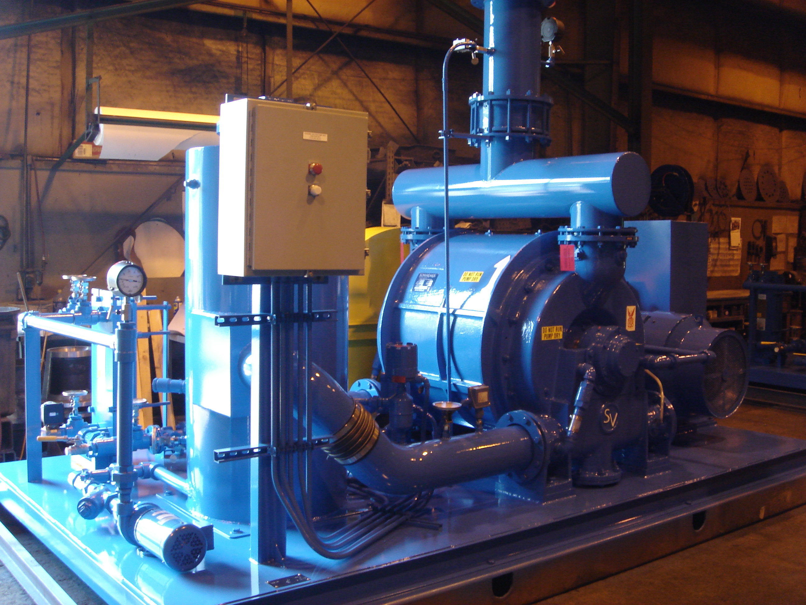 Pump skid ready to be shipped, chemical application