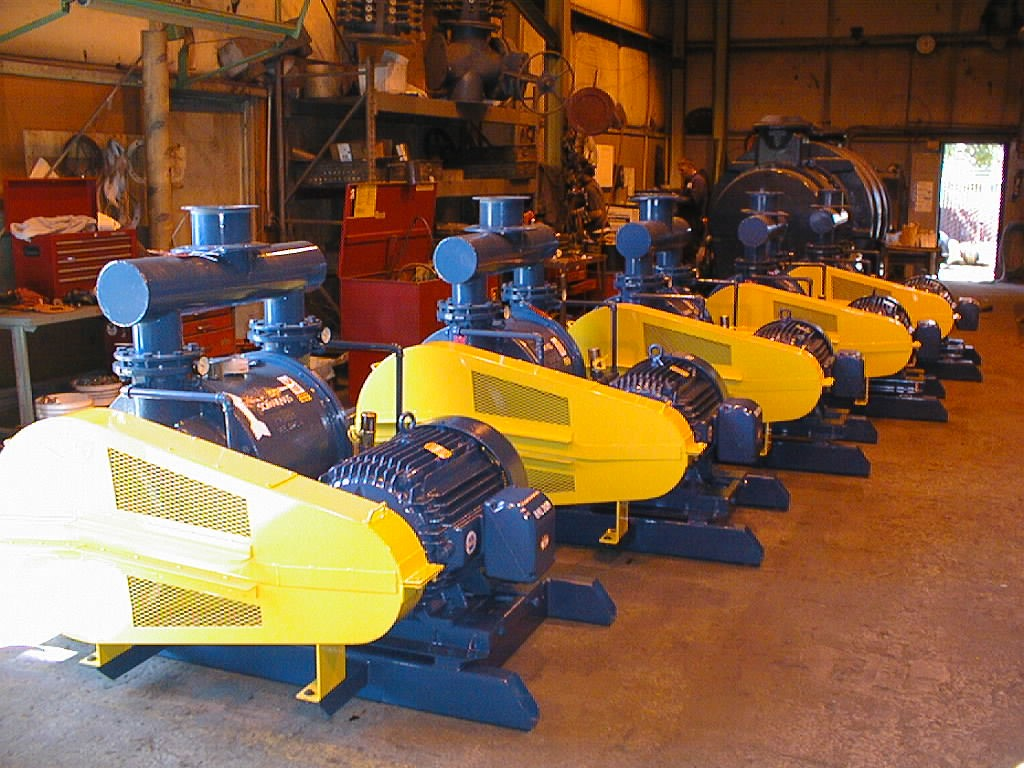 Small pumps ready to be shipped to a sugar refinery in the US